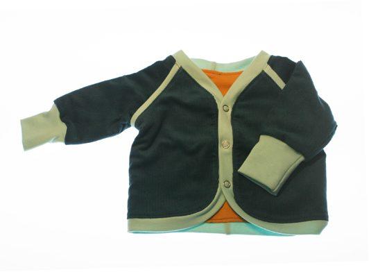 Jakke-petrolfarvet-babyfloejl-50-56 cl