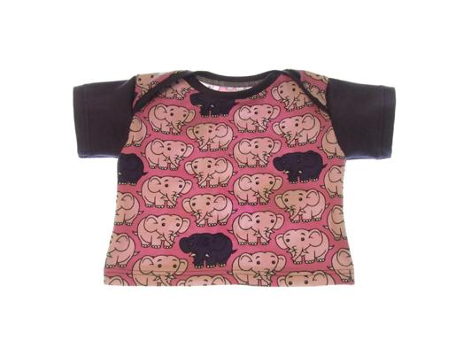 Lyser+©d-lilla t-shirt med elefanter