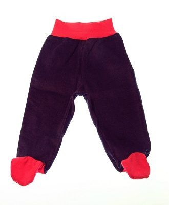 Økologiske bukser blålilla pink.