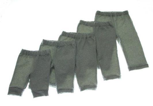 Økologiske bukser blågrå meleret.