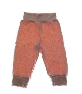 Økologiske bukser rosa meleret.