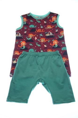Økologisk top havfruer og leggings.