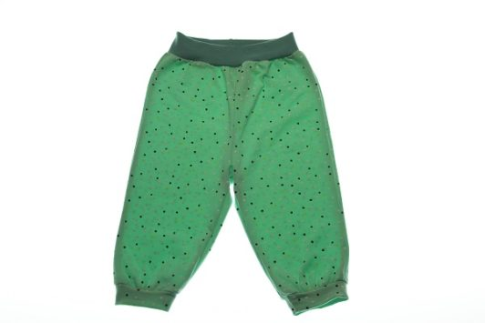 Økologisk-bukser-mint-prikker-68