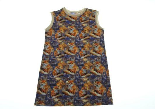 Økologisk-kjole-med-ræve-104-