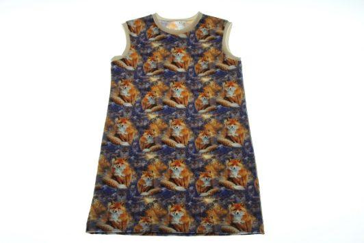 Økologisk-kjole-med-ræve-110-
