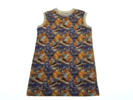 Økologisk-kjole-med-ræve-98-