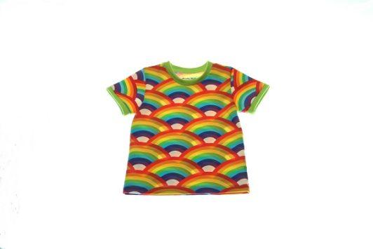 Økologisk-T-shirt-rainbow-80